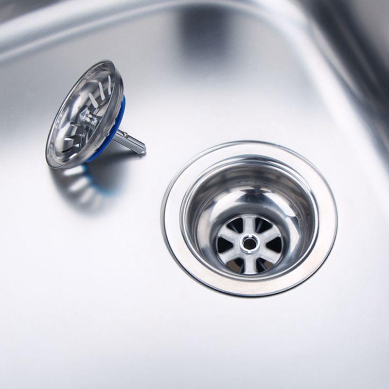 Stainless Steel Sink Filter Kitchen Drains Sewer Waste Plug Bathroom Hair Catcher Colanders Strainer Basin Accessories