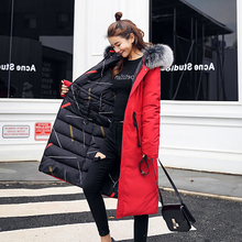 KMVEXO 2019 New Arrival Women Winter Jacket Double Two Sides Hooded With Fur Collar Ladies Coat Long Warm Thicken Female Parka