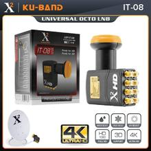 X square LNB pour récepteur TV Satellite universel bande KU LNB extrême Gain élevé universel 8 sorties LNBF