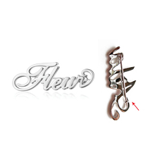 Brooch-Pin Personalized-Badges Cuatomized Stainless-Steel Custom Pins Lapel for Women