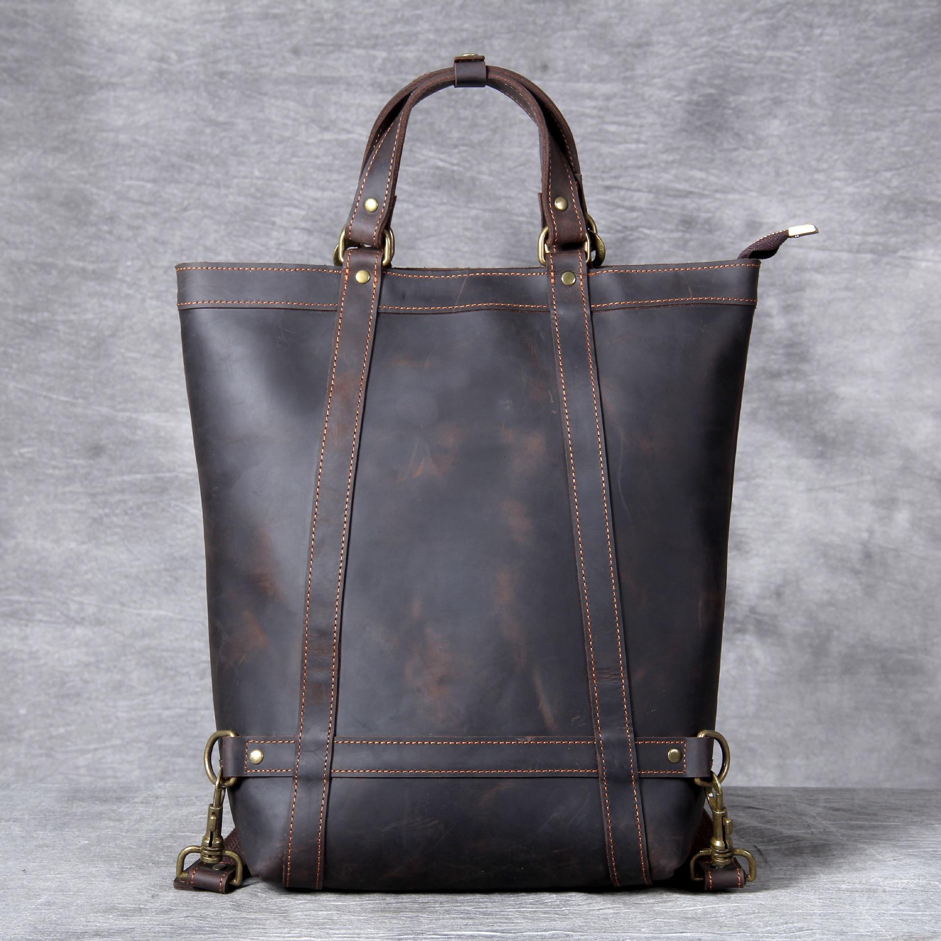 Men horse leather men/'s shoulder bag vintage messenger bags