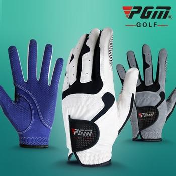 Męskie rękawice golfowe mikro włókna miękkie z lewej strony antypoślizgowe rękawice męskie elastyczne oddychające akcesoria do golfa z antypoślizgową cząstek tanie i dobre opinie Tkaniny GG0002