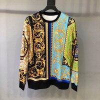 2020 Autumn Chic Men/Women's casual floral print Sweatshirts Hot fashion casual men O neck Hoodie tops C344