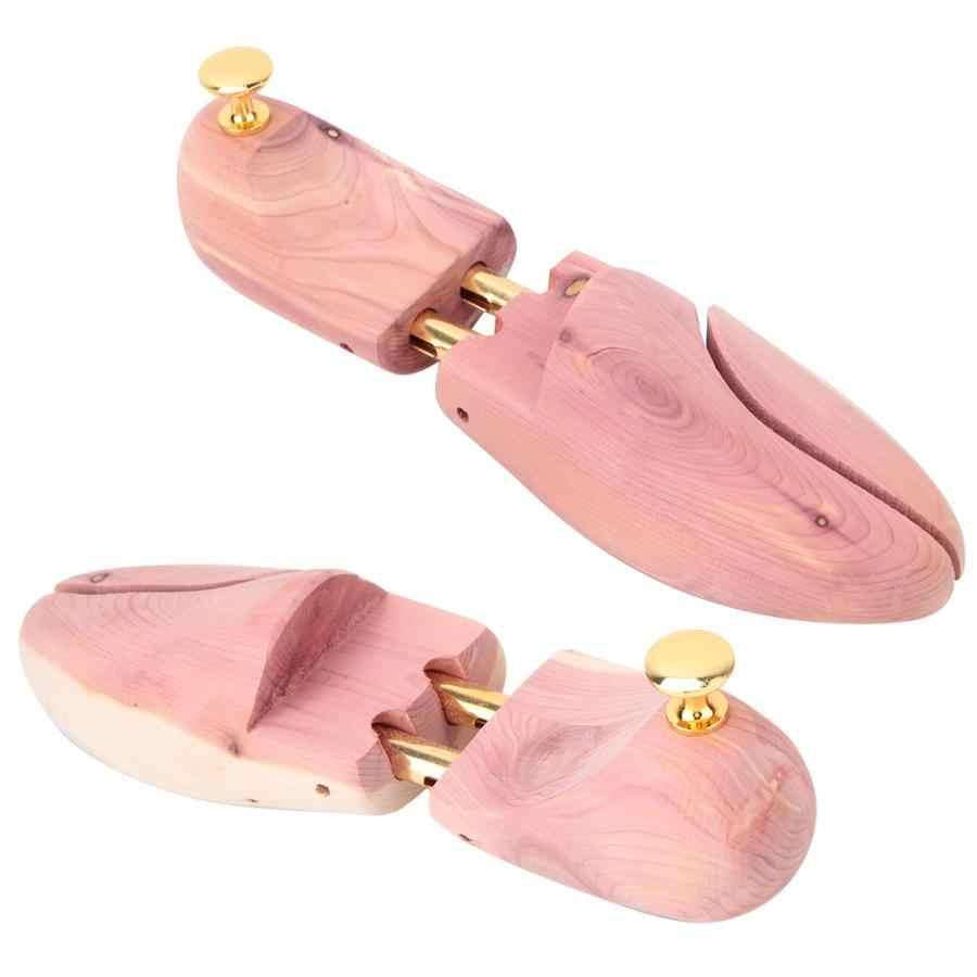 أداة تنظيم الأحذية حذاء رفوف المنظمون 2 قطعة الأحمر خشب الأرز مويستوريبروف مكافحة تشوه المضادة للتجاعيد قابل للتعديل حذاء شجرة 35- 46