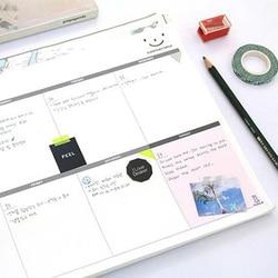 46 folhas grande a4 planejador semanal para o trabalho de escritório diário planejador de estudo mensal tamanho a4 livro de nomeação
