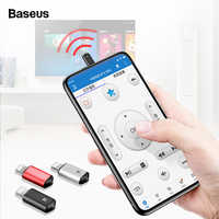 Baseus di Controllo A Distanza Per il iPhone Xs Max XR X 8 7 6 TV Aria Condizionata Trasmettitore A Raggi Infrarossi Senza Fili di Aria Del Mouse Intelligente regolatore di IR