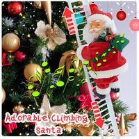 Рождественский Санта-Клаус, электрическая подвесная лестница, украшение для рождественской елки, офисные украшения, забавные новогодние п...