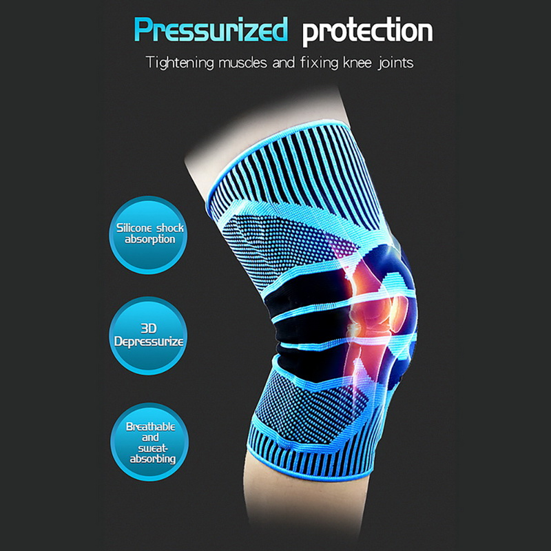 1PC Spring Knee  Brace Basketball Volleyball Knee Pad Sport Knee Pads Running Basket Sports Safety Protect