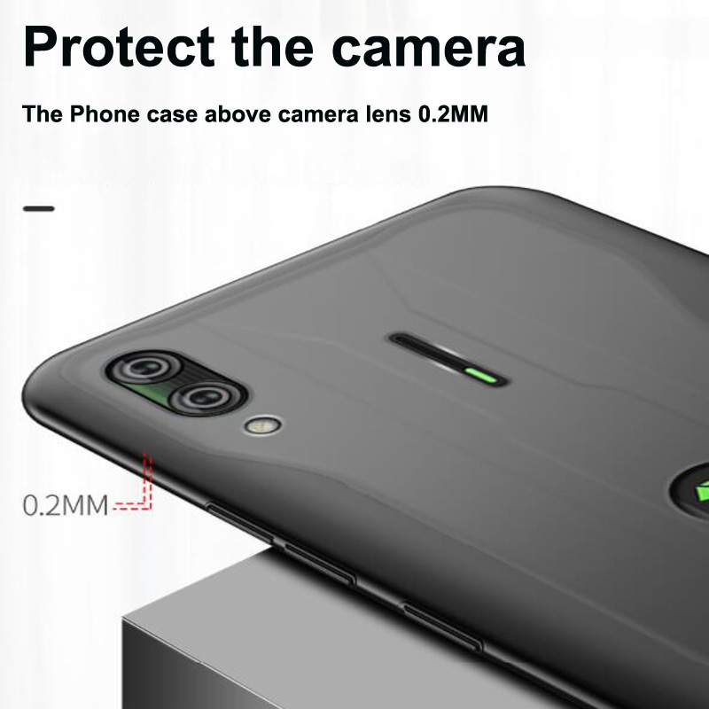 Open hole Silicone Cases For Xiaomi Black Shark 2 Pro Case 2pro DLT-A0 TPU Soft Cover for Xiaomi BlackShark 2 Pro 2Pro Bumper
