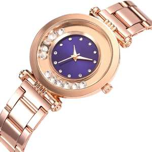 Ladies Dress Watches Rhinestone-Balls Gift Quartz Analog Fashion Luxury Alloy Linked-Strap