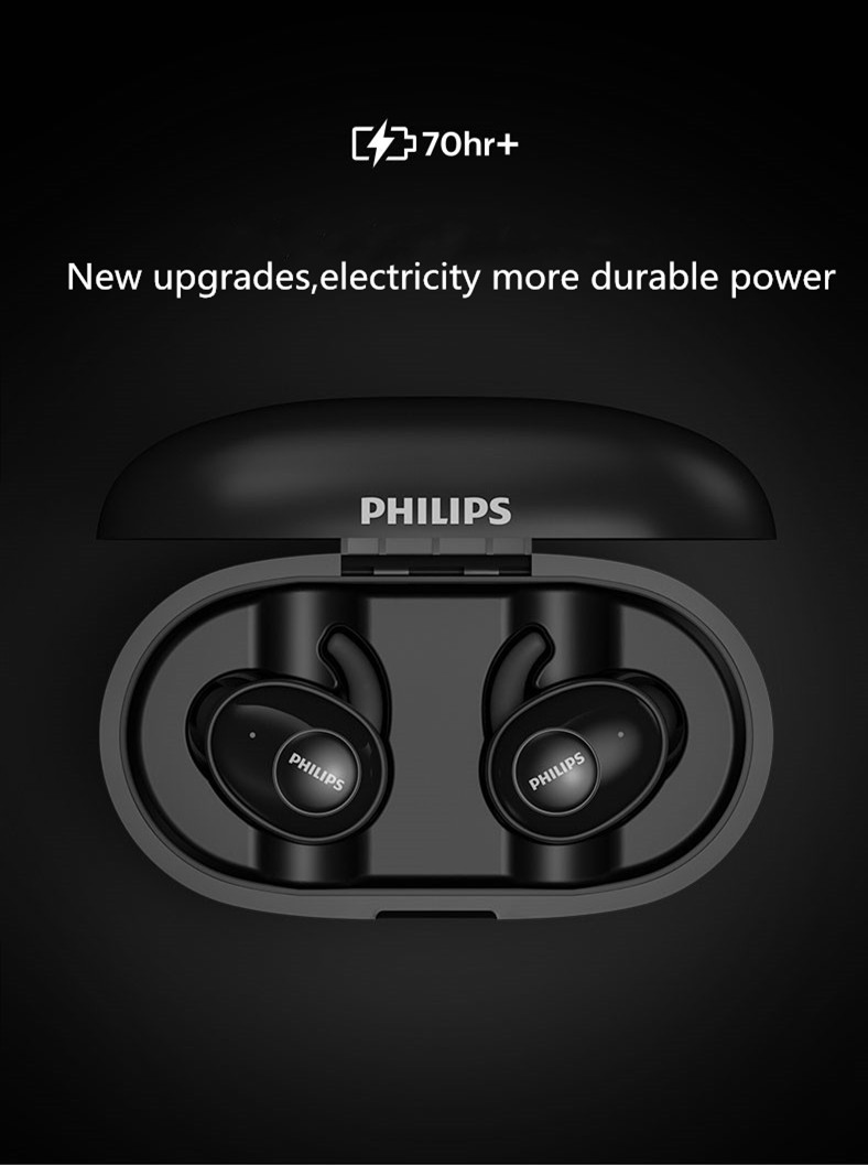Philips upbeat shb2515 tws bluetooth 5.0 fones
