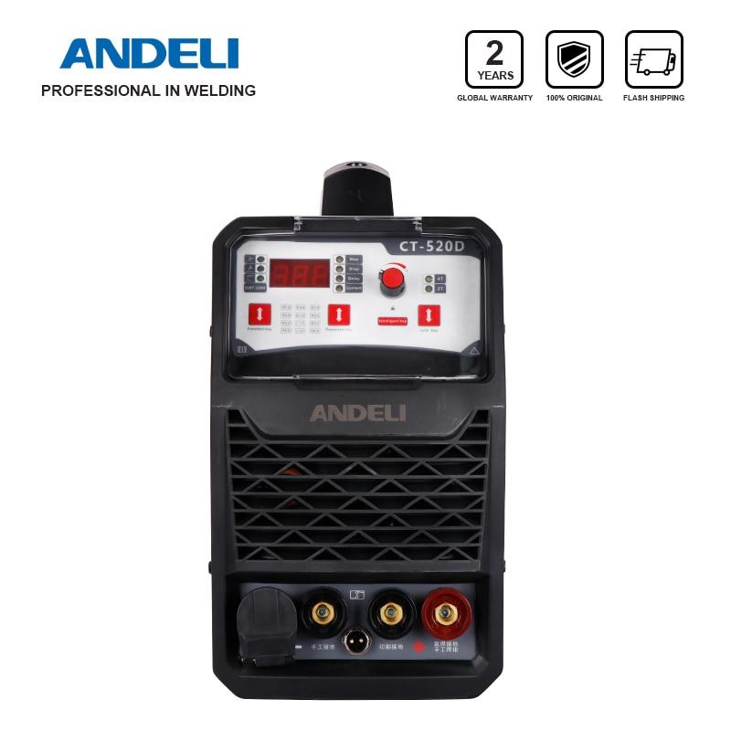 ANDELI Smart Portable Single Phase Welding Machine 3in1 CT 520D 3 in 1 Welder with CUT/MMA/TIG Welding machine 3 in 1Arc Welders   -