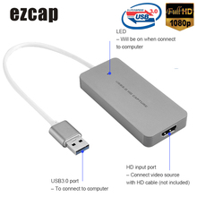 Ezcap Hd Capture Kaart Apparaat Video Game Recorder Easycap 1080P Live Sreaming Usb 3.0 Converter Plug & Play Voor xbox Een PS3 PS4