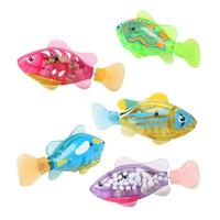 GloryStar 1PC Schwimmen Elektronische Fisch Aktiviert Batterie Robofish Powered Spielzeug Für Kinder Kid Baden Spielzeug Geschenk Zufällige Farbe-in Figuren & Miniaturen aus Heim und Garten bei
