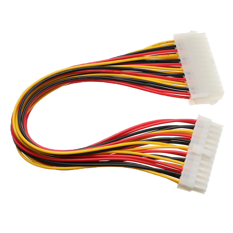 30cm ATX 24 Pin Male to <font><b>24Pin</b></font> Female Power Supply Extension <font><b>Cable</b></font> for Internal PC PSU TW Power Lead Connector Wire image