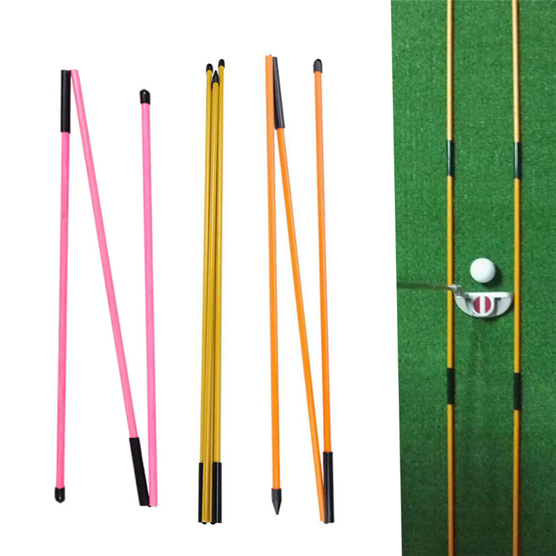 48 Inch Golf Alignment Stick Putting Training Aid To Improve Golf Skills Ball Position Scores Swing Plane Orange Fiberglass