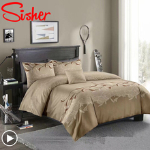Classic Jacquard Bedding Set Solid Red Duvet Cover Simple King Size Comforter Bed Linen Single Queen