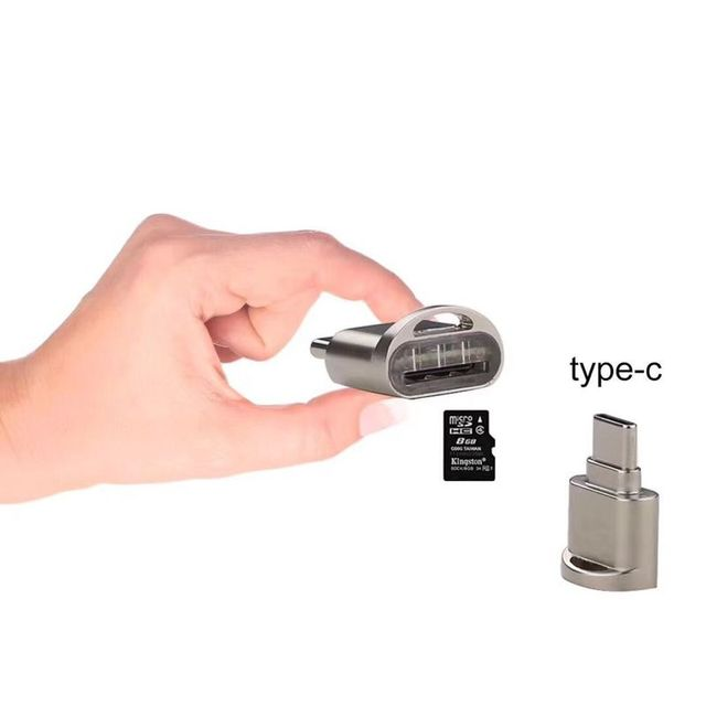 1 unidad portátil USB 3,1 tipo C lector de tarjetas USB-C TF Micro SD OTG Adaptador tipo C lector de tarjetas de memoria para Samsung Macbook Huawei LeTV