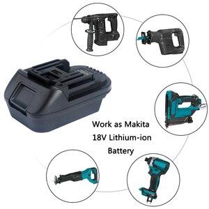 Image 5 - Адаптер для преобразователя литий ионной батареи DM18M 18 в, преобразователь Milwaukee 18 в или Dewalt 20 в, литий ионная батарея