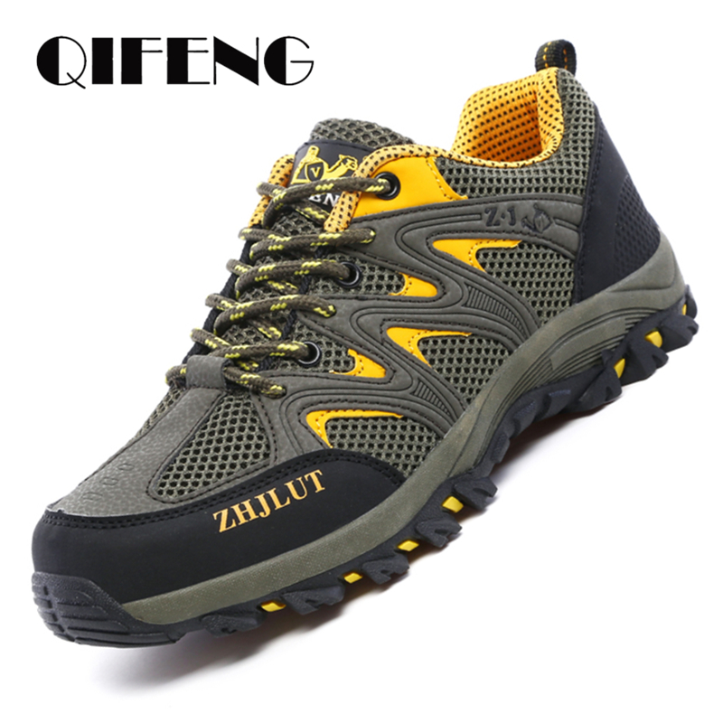 Men Mesh Casual Shoes Women Outdoor Sports Breathable Summer Wear Resisting Trekking Footwear Climbing light hiking Shoes ManMens Casual Shoes   -
