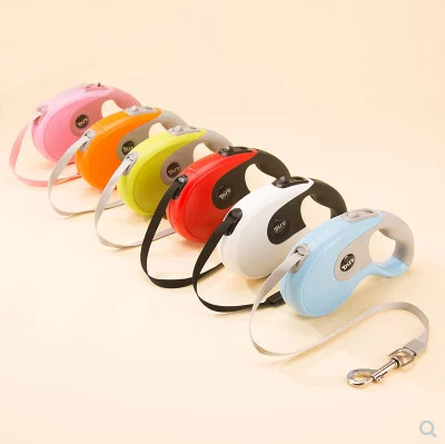 Pet Supplies Automatic Flexible Tractor-Fixed Thai Bag Plastic Dog Hand Holding Rope Dog Rope