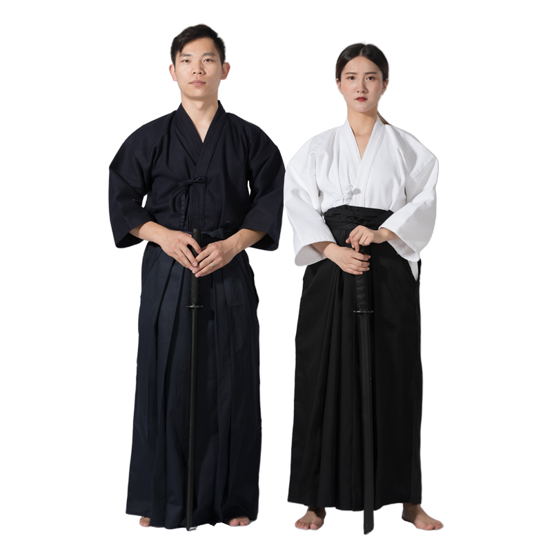 Kendo Uniforms Iaido Aikido Competition Training Kendo Suit Kendogi Tops Hakama Pants Trouser Sportswear Martial Arts Uniform