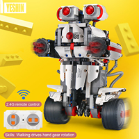 RC Robot RC Educational Building Blocks 2.4G 806PCS DIY Assembly Balanced Programming RoboRemote Control APP Control for Kids