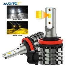 AUXITO – phares antibrouillard LED H11 H8 H9 H16JP, ampoule DRL pour BMW, Toyota, Skoda, Ford, Lada, 2 pièces