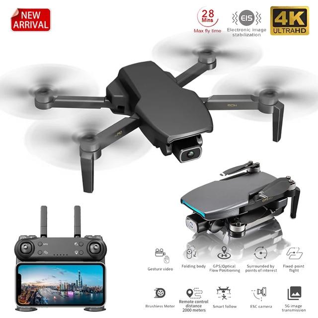 Novo 2021 l108 zangão gps com câmera hd 4k profissional 2000m transmissão de imagem brushless motor rc quadcopter dobrável presente do miúdo 2