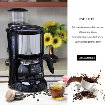 Electric Coffee Maker Machine Household American Coffee Fully-Automatic Drip Coffee Maker Tea Coffee Pot Kitchen Appliance
