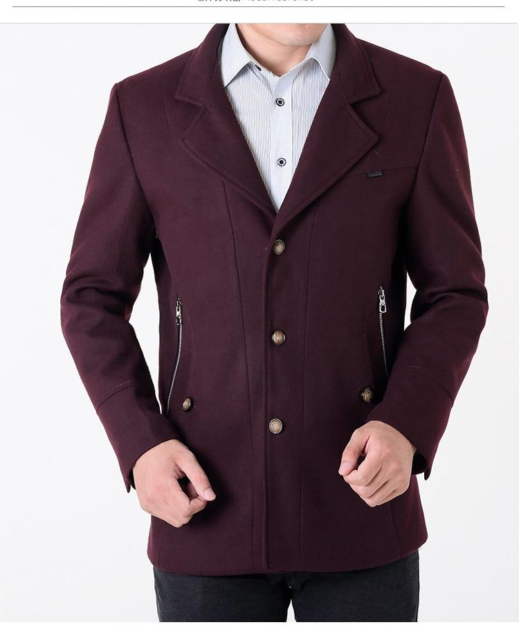 Men Coat AYUBNSUE Woolen Plus Size 7xl Men's Jackets Autumn&Winter Casual Mens Coats Cvercoats Jacket Abrigo Hombre KJ272