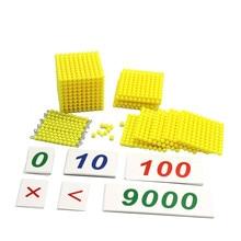 Montessori Kids Toy Baby Decimal Base Bank Game Set Maths Tr