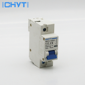 1P 100A 125A DC 300V Circuit breaker MCB FOR PV System battery main switch 1 modular 18mm width new design 80a 100a 125a 10ka breaking capacity mcb miniature circuit breaker 10ka breaker automatic