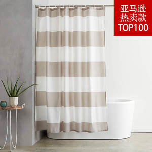 Polyester Shower-Curtain Bathroom Waterproof European-Style Send-Link Separate-Dry Wet-Depart