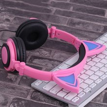 LX-Y05 Creative Home Office Use Personal Design Cat's Ear Headphones Luminescence Foldable Super Stereo Headsets