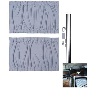 Image 1 - 2 個 70 センチメートル車カーテン窓カバーセット格納式自動カーテン窓ローラー日よけブラインドブロックプロテクターカーテン