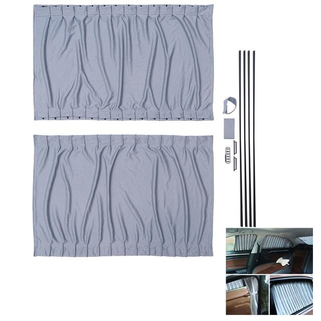 2 個 70 センチメートル車カーテン窓カバーセット格納式自動カーテン窓ローラー日よけブラインドブロックプロテクターカーテン