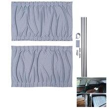2pcs 70cm Car Curtains Window Cover Sets Retractable Auto Curtain Window Roller Sun Shades Blind Block Protector Curtain