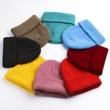 Детские зимние шапки для детей плотное платье девочек вязанные