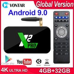 X2 برو مربع التلفزيون الذكية 4GB RAM DDR4 32GB الروبوت 9.0 التلفزيون مربع S905X2 X2 مكعب 2GB 16GB مشغل الوسائط 2.4G/5G واي فاي 1000M 4K PK Ugoos x2