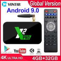 X2 Pro Smart TV Box 4GB di RAM DDR4 32GB Android 9.0 TV Box S905X2 X2 cubo di 2GB 16GB Media Player 2.4G/5G WiFi 1000M 4K PK Ugoos x2