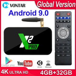 X2 Pro Smart tv Box 4 Гб ram DDR4 32 ГБ Android 9,0 tv Box S905X2 X2 cube 2 Гб 16 Гб медиаплеер 2,4G/5G WiFi 1000M 4K PK Ugoos x2