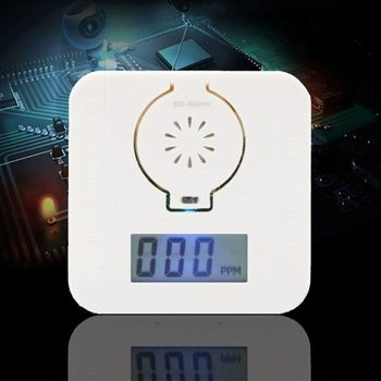 CO Carbon Monoxide Smoke Detector Alarm Poisoning Gas Warning Sensor Security Poisoning Alarm LCD Photoelectric Detectors E65A lcd co carbon monoxide smoke detector alarm poisoning gas warning sensor monitor device gv99