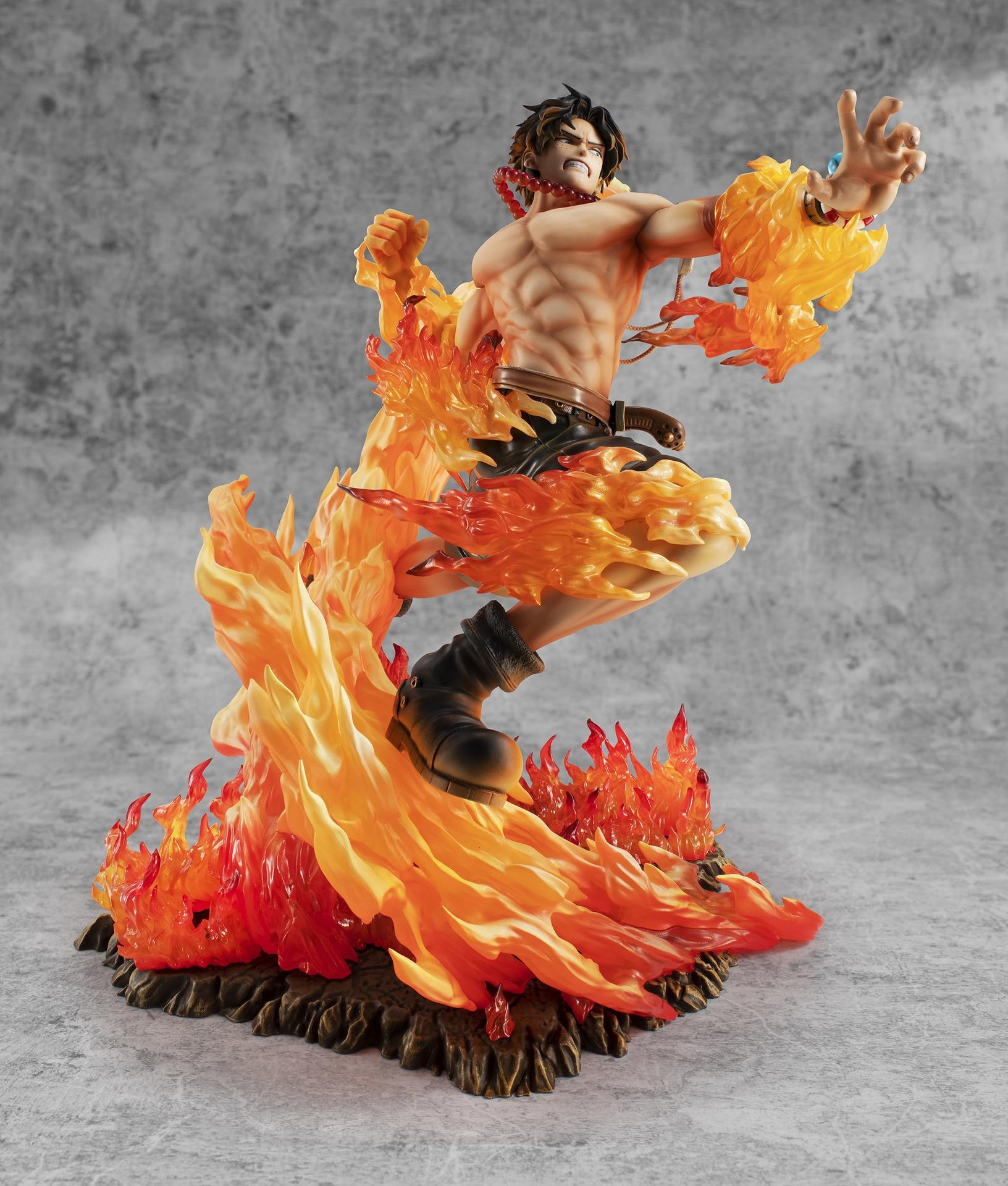 fogo pvc figura de ação uma peça
