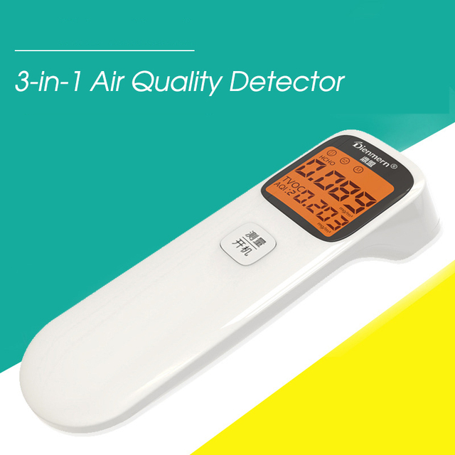 3-in-1 digital air quality detector formaldehyde detector portable aqi hcho tvoc monitor smart calibration accurate gas analyzer