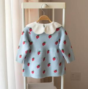 Image 4 - Baby Girls Knitted Dress 2019 autumn winter Clothes children Toddler Tops Shirts for girl Kids princess Cotton Christmas Dresses