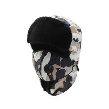 Outdoor Warm Hat Men Women Winter Riding Hiking Skiing Cap Airtifial Fur Earmuffs Russian Bomber
