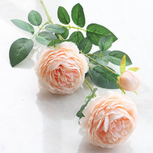 Silk Artificial Fake Flower Peony Bridal Bouquet Wedding Classic European Style High Realistic Appearance linman high quality1bunch european artificial flower fake peony bridal bouquet for christmas wedding party home decorative