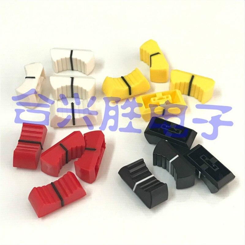 10-piece Mixer Electronic Keyboard Sliding Potentiometer Plastic Cap Fader Cap Knob Push Button 4MM Jack Push Cap 24 * 11 * 11mm