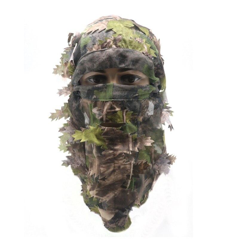 Amouflage Face Mask 3D Leaf Stereo Hunting Mask Hat Camo Face Mask Balaclava Woodland Full Face Mask